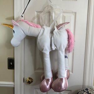 """""""Ride on"""" kids pink plush unicorn costume 28""""x 20"""""""